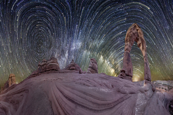 Milky Way Rising at Delicate Arch